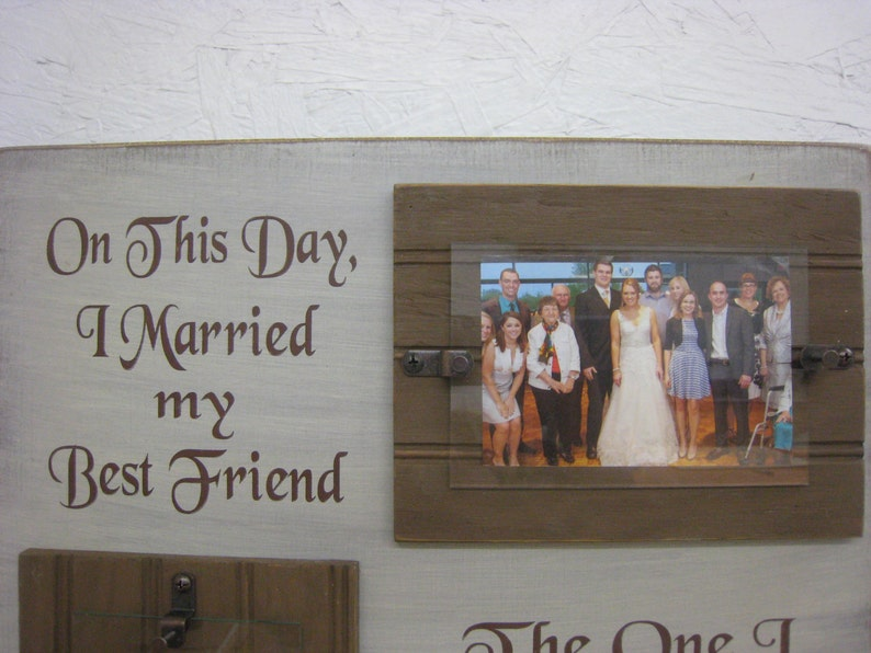 Dream with Live for Love Rustic SignFrame Great Wedding Gift to last for years On This Day I Married My Best Friend The One I Laugh with