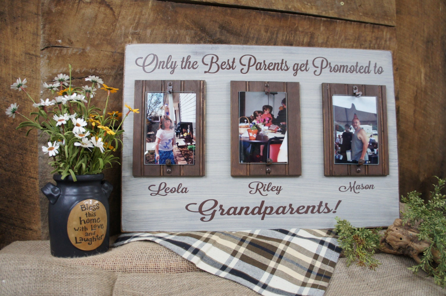 Only the Best Parents Get Promoted to Grandparents Rustic Picture ...