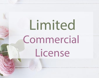 LIMITED Commercial License / Credit Required / Organization or Personal / Run of Less than 500 Items