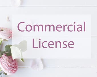 Commercial License / No Credit Required / Small Business / Run of Less than 500 Items