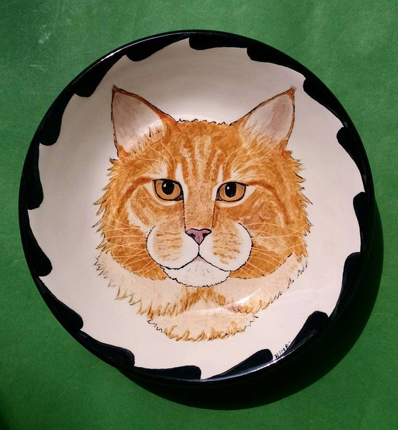 PET PORTRAIT BOWL-7 Your Cat or Dog handpainted on a image 0