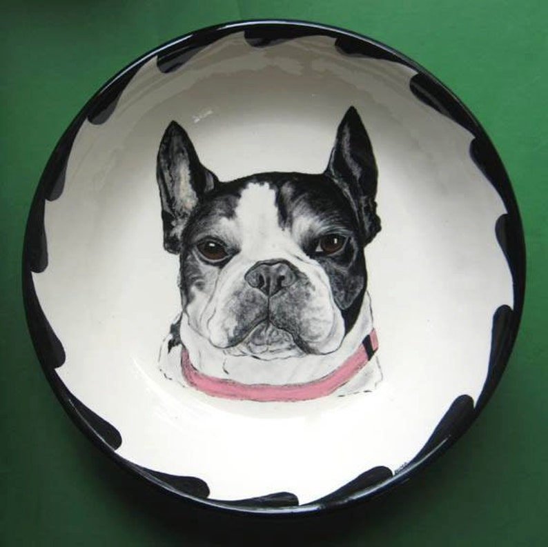 Pet Portrait Bowl-12. Your Cat or Dog handpainted on image 0