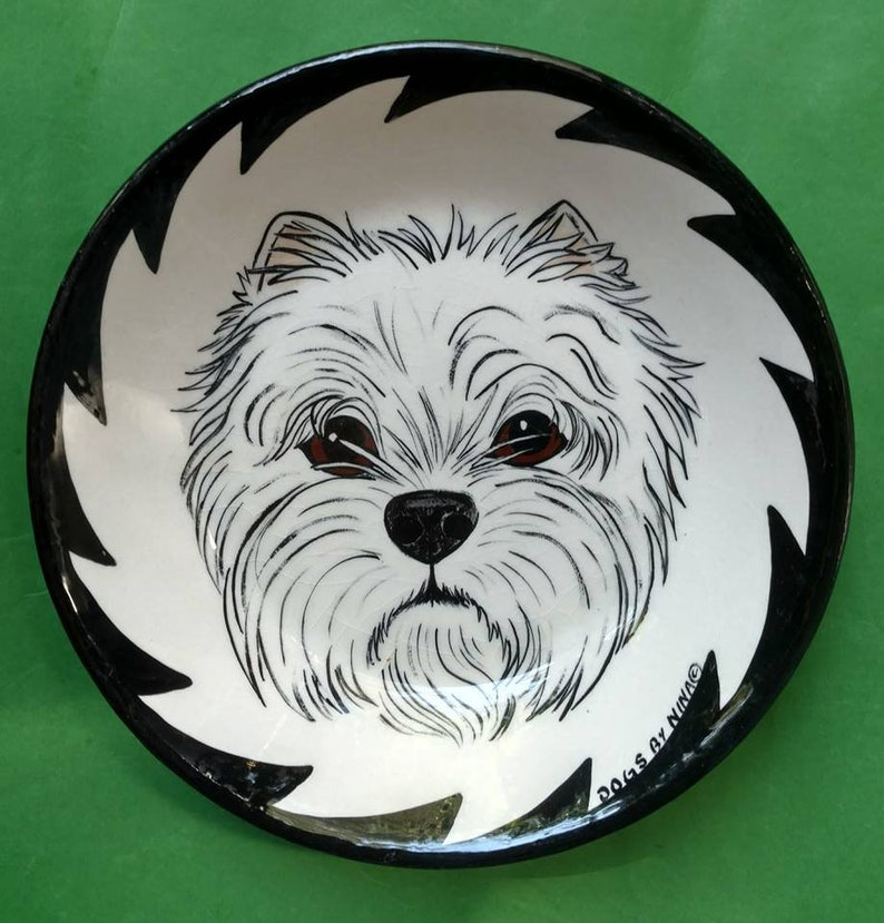 7bowl with Westie on it image 0