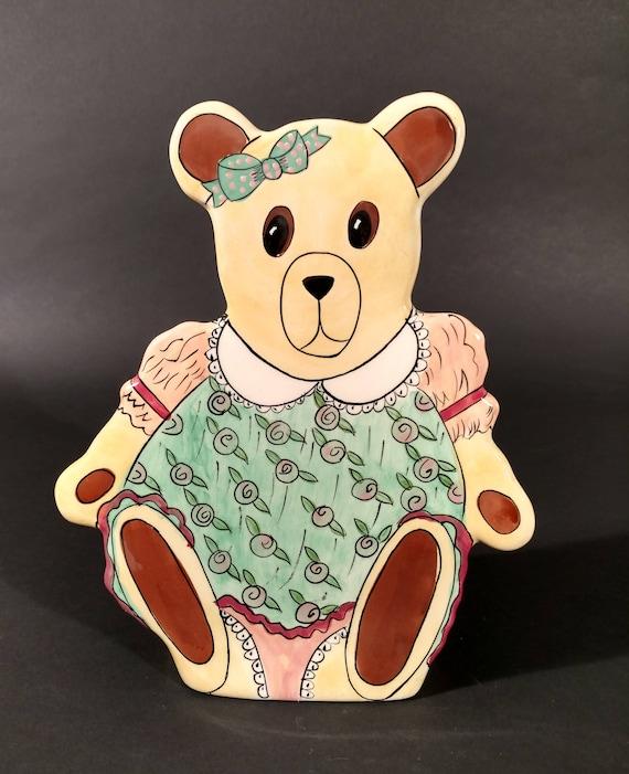 Vintage Teddy Bear Vase By Nina Lyman Of Bears By Nina Etsy