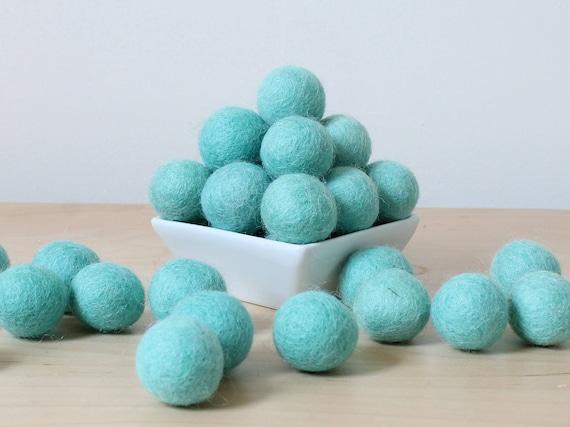 Pick Your Own Colors Felt Balls Loose Felt Balls 2.5 cm Robins Egg Blue Wool Felt Balls Wool Felt Pom Poms Pom Pom Balls Felted Balls