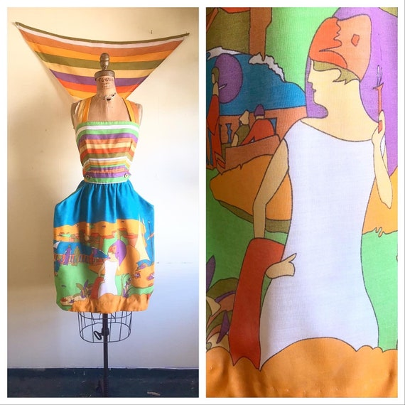 FRENCH RIVIERA Striped 1960's 1970's Vintage 60s 7