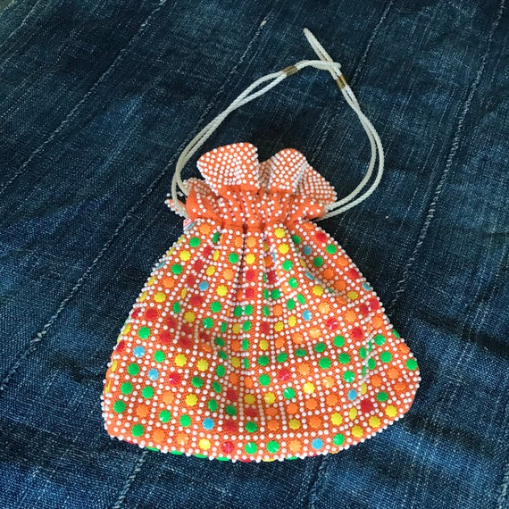 REVERSIBLE Black To Orange Pop Bead Beaded Handmad