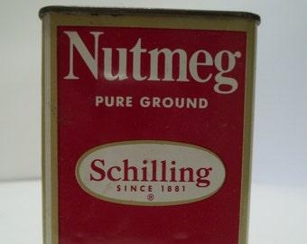 Vintage Shilling Nutmeg Pure Ground Tin