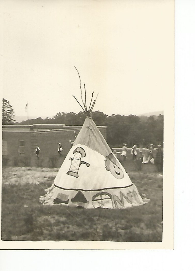 Antique Lot of 3 School Children Learning About Indians Photographs Black and White