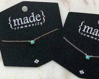 Turquoise Dew Drop Necklace