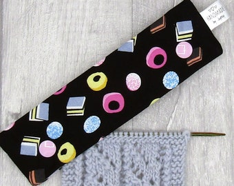 Licorice Allsorts Sweets 6 inch DPN knitting needle holder