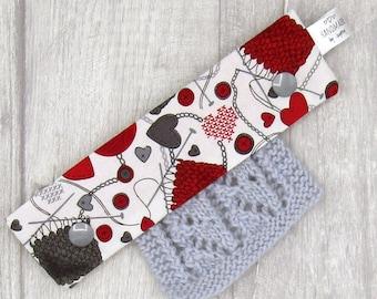 Knitting , Yarn, & Hearts 6 inch DPN knitting needle holder