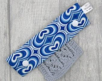 Blue and White Hearts 6inch DPN holder