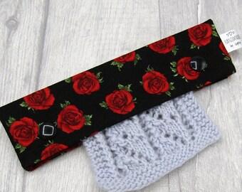 Roses 6 inch DPN knitting needle holder