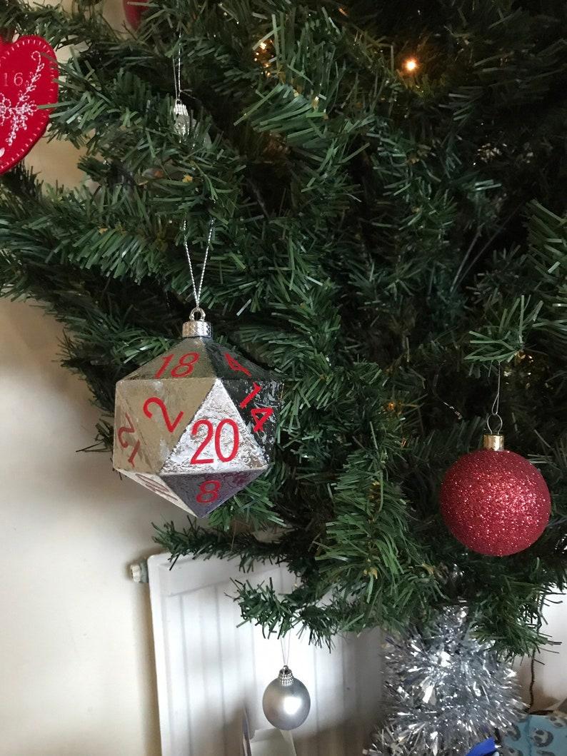 D20 Ornament Christmas Tree D20 Bauble image 0