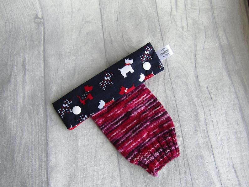 Scottie Dog 6 inch DPN knitting needle holder image 0