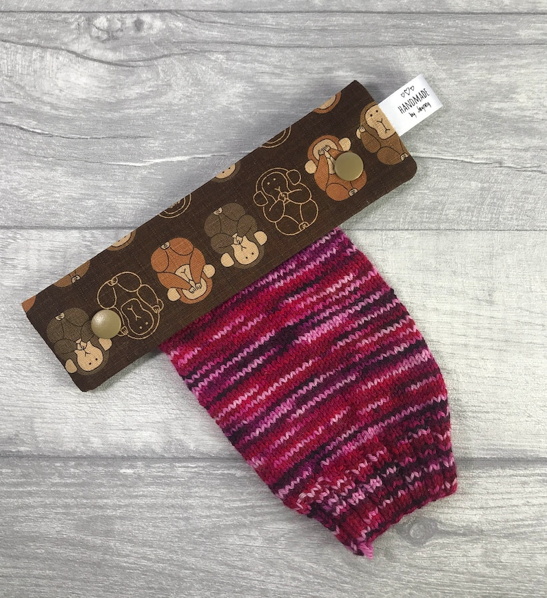 See Hear Speak no evil moneys 6 inch DPN knitting needle image 0