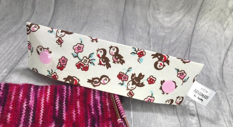 Lovebirds & Hearts 6 inch DPN knitting needle holder image 0