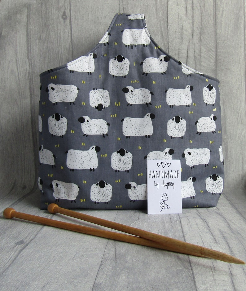 Sheep Knitting and Crochet Project Bag image 0