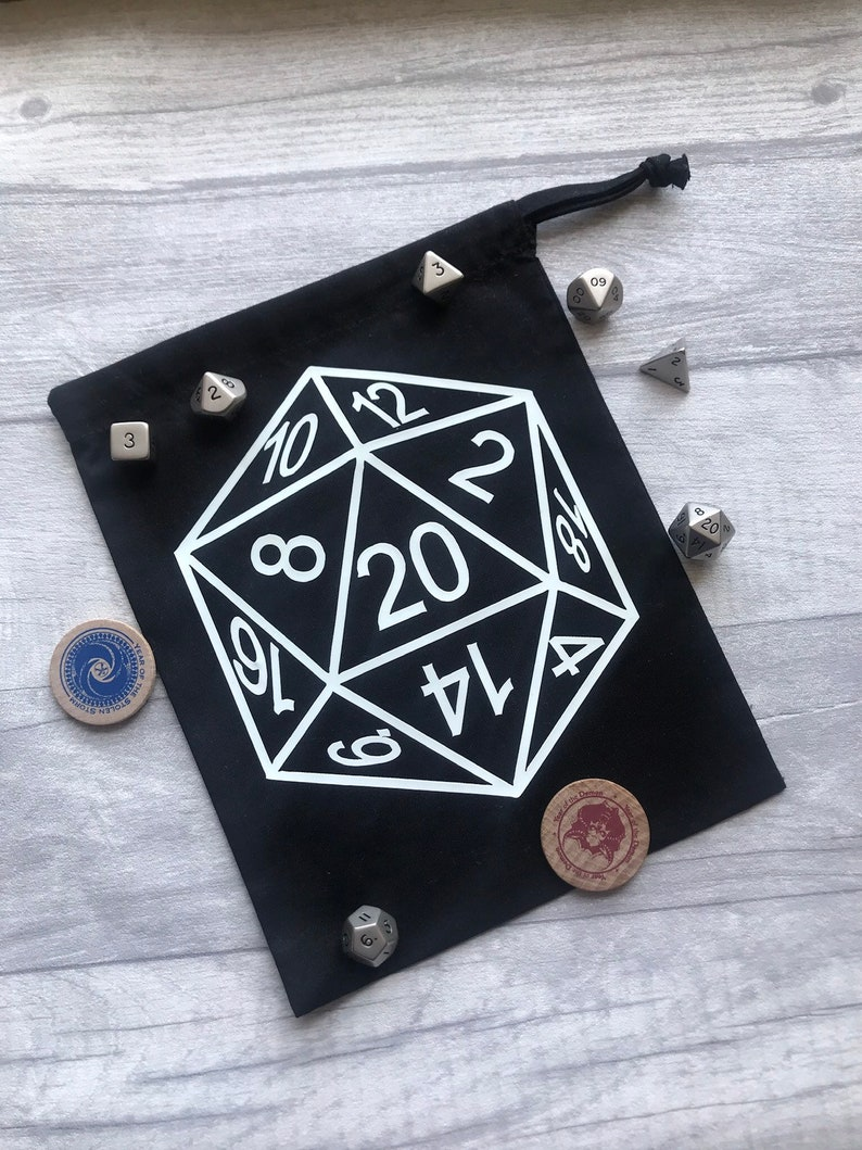Glow in the Dark D20 Dice Bag image 0