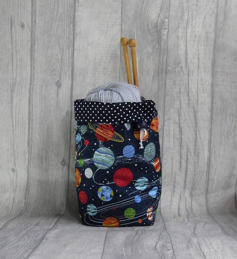 Space Knitting and Crochet Project Bag image 0