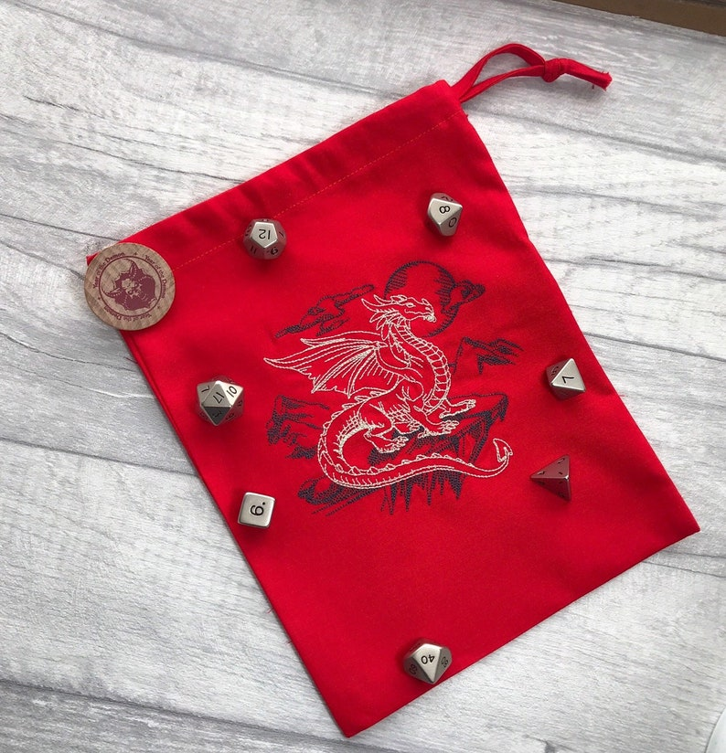Red Personalised Dice Bag image 0