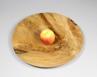 Wooden Platter, Beech Platter, Unique Gifts for Friends, 21st Birthday Gift, Serving Platter, Holiday Table Decor, Wood Cake Plate