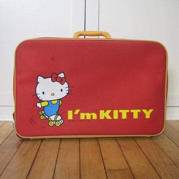 bbacf4bad608 1976 Hello Kitty Suitcase Sanrio Yuko Shimizu Hello Kitty