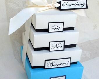 Something Blue Wedding Gift Boxes - Something Old, Something New, Something Borrowed, Something Blue