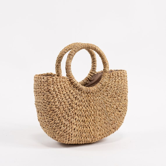 Handwoven straw mini bag straw purse straw handbag straw  bbb80db9d6561