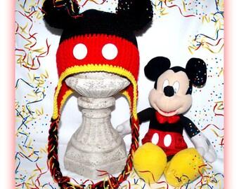Original Mouse Earflap Hat - Crochet Pattern