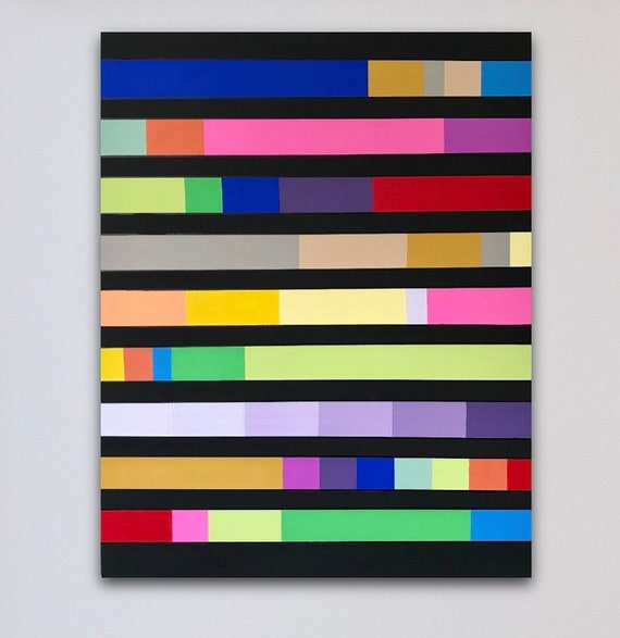 Color Block Painting Etsy