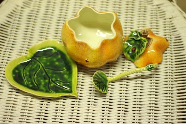 Ceramics and Pottery Sweet pumpkin sugar holder Sugar Bowl Sugar Sugar Box Ceramic Sugar Bowl Pumpkin Sugar Bowl