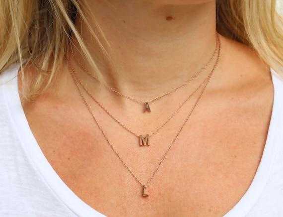 Rose Gold Letter Necklace