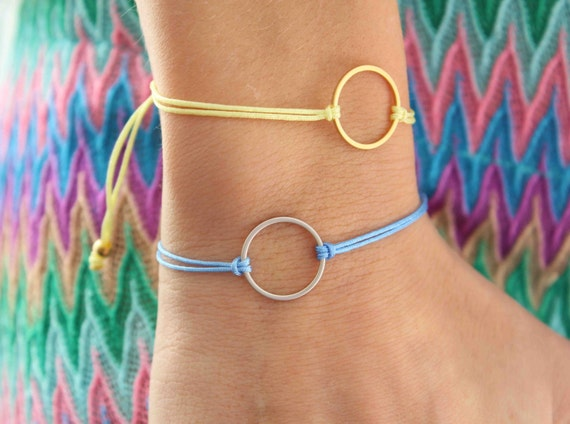 Karma Bracelet - Circle of life friendship Bracelet - Eternity bracelet - Minimalist bracelet - Everyday Bracelet - Bridal Jewellery