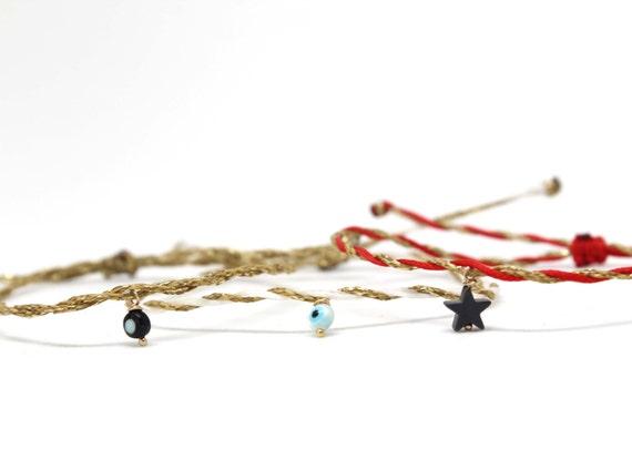 Evil Eye Bracelets. Christmas Bracelets. Star Bracelet. Minimalist Bracelets. Gift for her