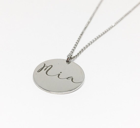 Name Necklace. Name and Birth Date Necklace. Design your personalised necklace