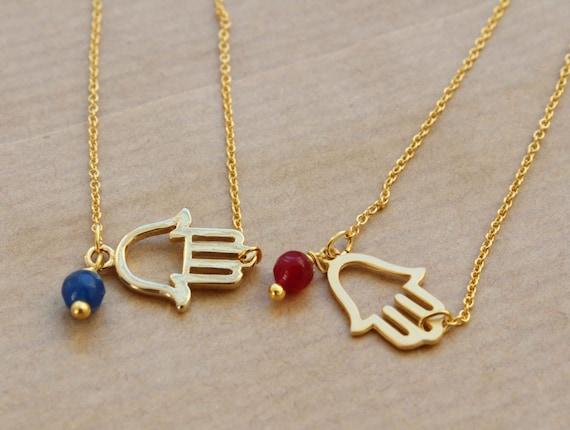 Hamsa Bracelet. Chain good luck bracelet. gold plated karma bracelet. Hamsa hand bracelet. Bohemian bracelet