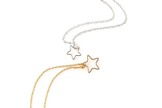 Little Star necklace. Minimalist necklace. Gold plated star necklace. Chain Necklace. Layered necklace
