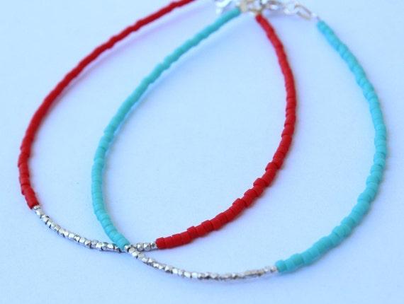 Beaded Silver Bracelet - Sterling silver bracelet - Silver dainty bracelet - Minimal bracelet - Friendship Bracelet