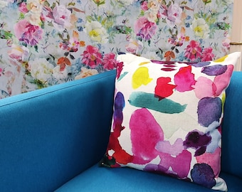"""BLUEBELLGRAY FABRIC """"ABSTRACT""""  CUSHION COVER 30cm X 50cm"""