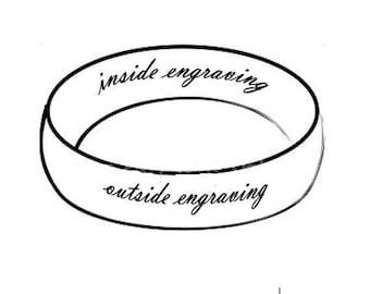 Custom ring engraving inside or outside
