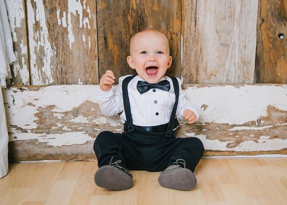 Monthly Photo Bodysuit- Baby Tuxedo Shirt Photography prop Baby Tuxedo Baby boy Tuxedo Baby Wedding Suit baby tuxedo shirt