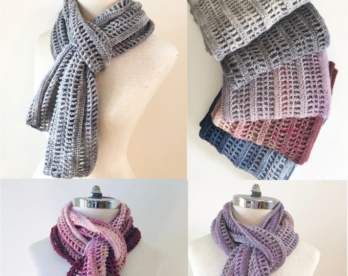 Lattice Lace Scarf Crochet pattern, shawl pattern, long scarf, crochet lace scarf pattern, scarf pattern, crochet scarf pattern, scarf