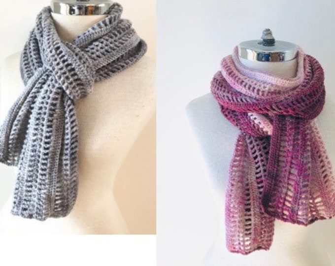 Lattice Lace Scarf Crochet pattern, elegant lace scarf, long scarf, crochet lace scarf pattern, scarf pattern, crochet scarf pattern, scarf