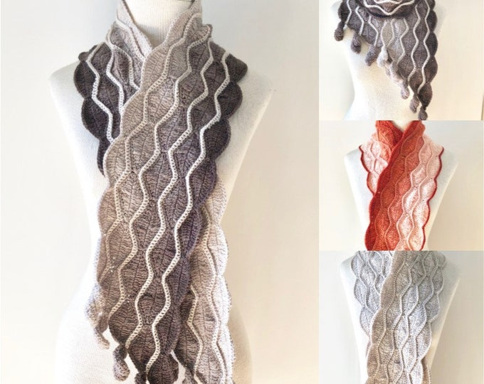 Autumn Leaves Scarf Crochet pattern, shawl pattern, long scarf, crochet lace scarf pattern, scarf pattern, Leaf scarf pattern, scarf