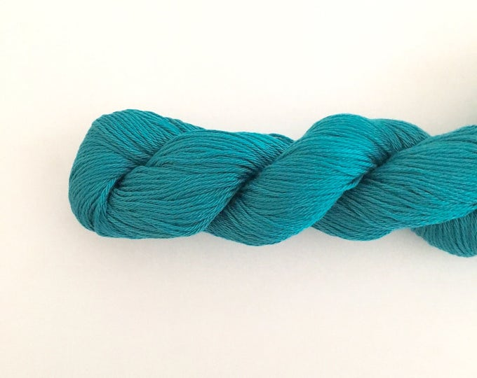 Turquoise Cotton Yarn DK weight, SALE, Egyptian cotton yarn, cotton yarn, knitting yarn, crochet yarn, craft yarn, blue yarn, cotton