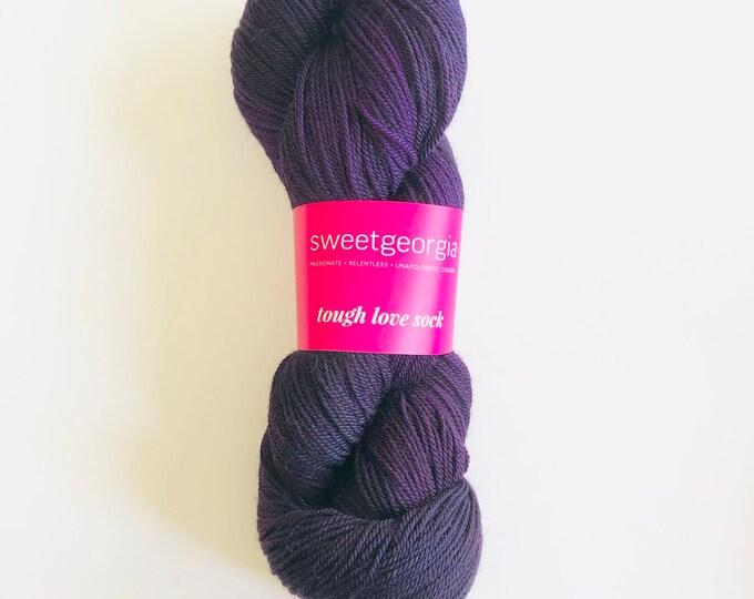 Purple Merino Wool Yarn, Fingerling Sock Yarn, purple, Tough Love Sock Yarn, hand painted yarn, merino wool, SweetGeorgia Yarns, yarn