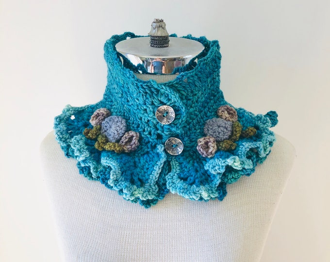 Ocean Beach Stone scarf, Blue, Green, colour combo, Lace Scarf, READY to SHIP, merino wool, other colours, gift for her, woman's scarf