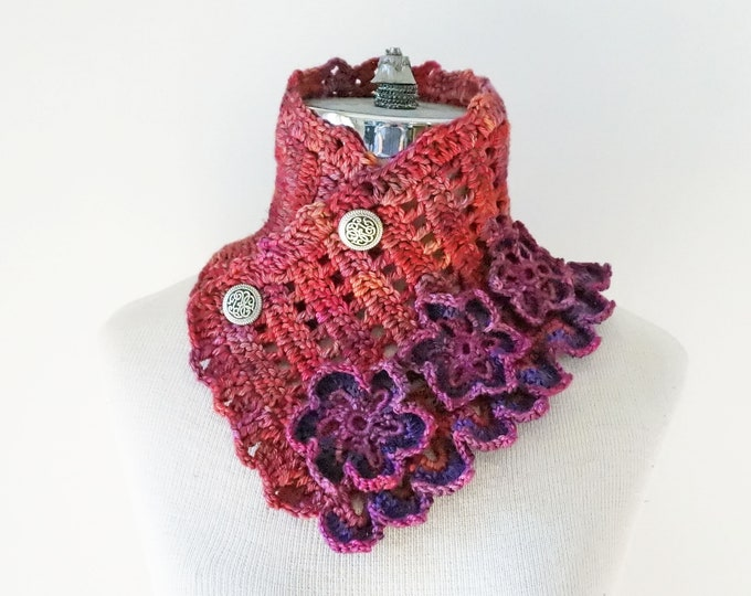 Floral Elegance Scarf, pink, purple scarf, Free Shipping, scarf, cowl scarf, floral scarf, SPECIAL EDITION, ready to ship, Woman's Scarf,